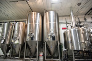 Brewing Tanks in Brewery