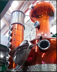 Our state-of-the-art copper still named Ceridwen