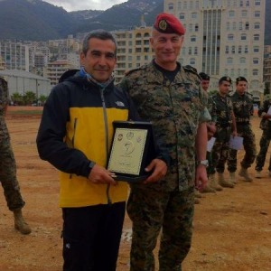 paragliding club thermique honored by the Lebanese Army