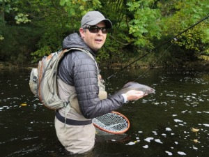 A Grayling about to be returned