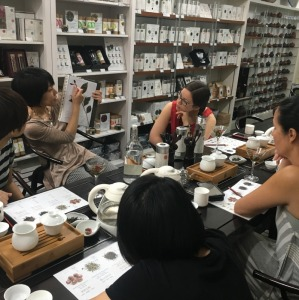 Tea Master In Tea Tasting Workshop