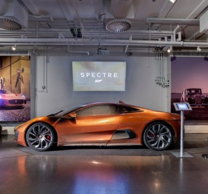 Hinx's stunt damaged Jaguar C-X75 from Spectre
