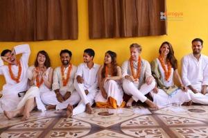 Yoga certification cermony