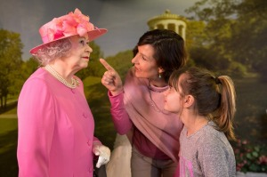 Visitors with Queen Elizabeth II