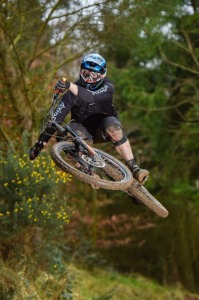 Red jumps trail