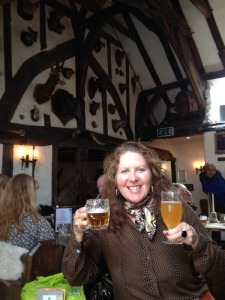 Jane Peyton with beer