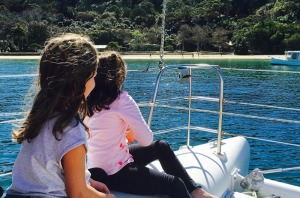 The kids love the experience of being on the water