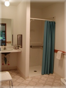 Wheelchair Accessible Cabin #1 Roll-in Shower