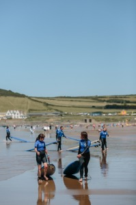 Learning to surf in Croyde