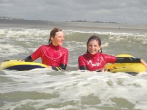 Surfing at Westward Ho!