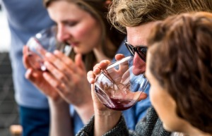 Tasting pinot noir on our Wine Tour.