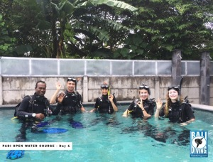 Day 1 for PADI Open Water Course