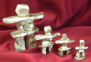 Canadian Made - Solid Pewter Inukshuk Figurines