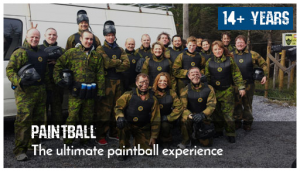 Happy to have survived paintball group.