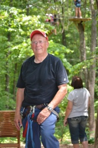 Fredrick Shelton. 74 yrs young completed end of the line. Loco Ropes Recordholder