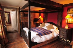 This bedroom is ideal for newly weds with its four poster bed