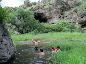 Swimming in Warm Springs