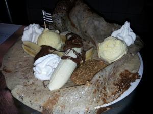 Crêpe Gourmande avec crème glacée artisanale