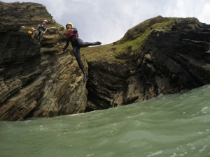 Coasteering fun in Croyde