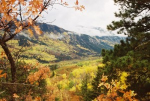 Fall view overlooking Marble.