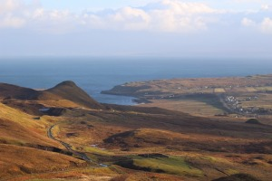 View of the coast of the Isle of Skye