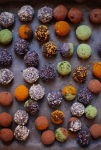 Sweet potato chocolate truffles