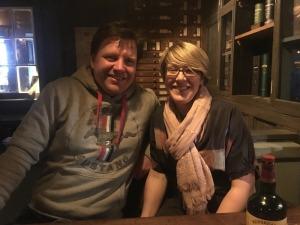Couple enjoying Irish Whiskey