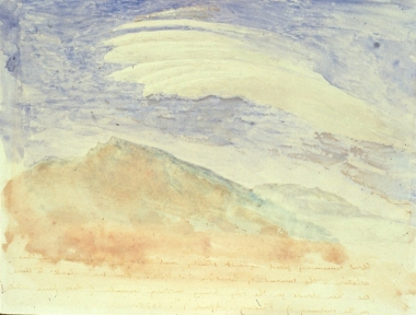 Fixed Cloud on the Old  Man, on the morning of Friday 9th April 1875, by John Ruskin
