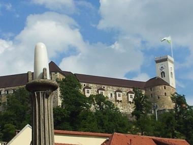 Ljubljana castle from the city