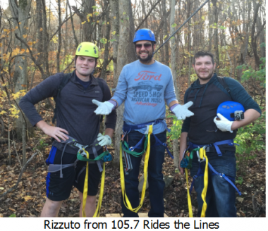 Another fun time on the ziplines with a local celebrity