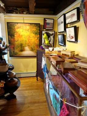 Yellow room - turned wood, photographs, & boxes.