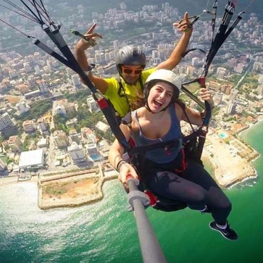 for paragliding price with Club Thermique from Ghosta near Harissa to Jounieh Lebanon