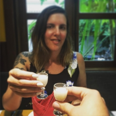 Guests try free rums