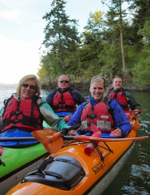 Family enjoying a tour with San Juan Kayak Expeditions