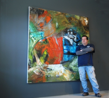 One of the larger paintings with portrait of Martin