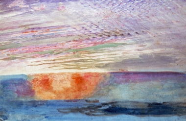 Sunset seen through the smoke of London from Herne Hill, 1876, by John Ruskin