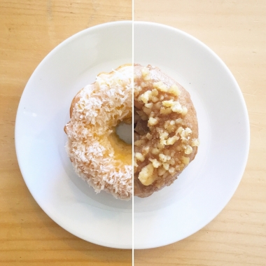 Check out the beautifully baked vegan doughnuts at #PlantMatterKitchen. Every Saturday and Sunday, we bake different flavours, including Piña Colada, Maple Walnut, Peach Perfection, Chocolate Cherry, Banana Chocolate, and more!