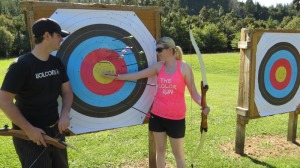 Archery with a lesson