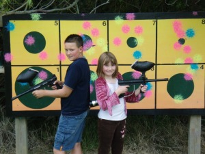 Target Paintball Shooting