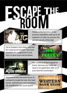 Try all four of our rooms!
