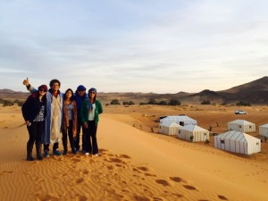 desert camp and camel trekking