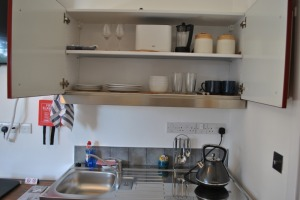 Kitchenette in the Studio room (fridge, microwave, toaster, coffee/tea making facilities)