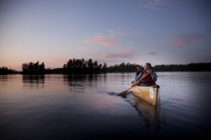 Sunset Paddling in the BWCA